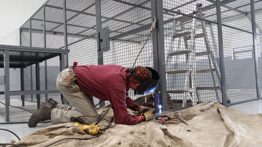 dea-approved storage cage drug enforcement agency drug storage epa wast cage welded metal mesh storage enclosure