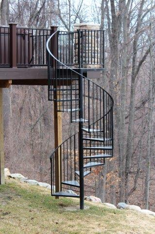 wrought iron spiral custom iron spiral stair prefabricated staircase prebuilt spiral stairs metal circular stairs metal railing match deck