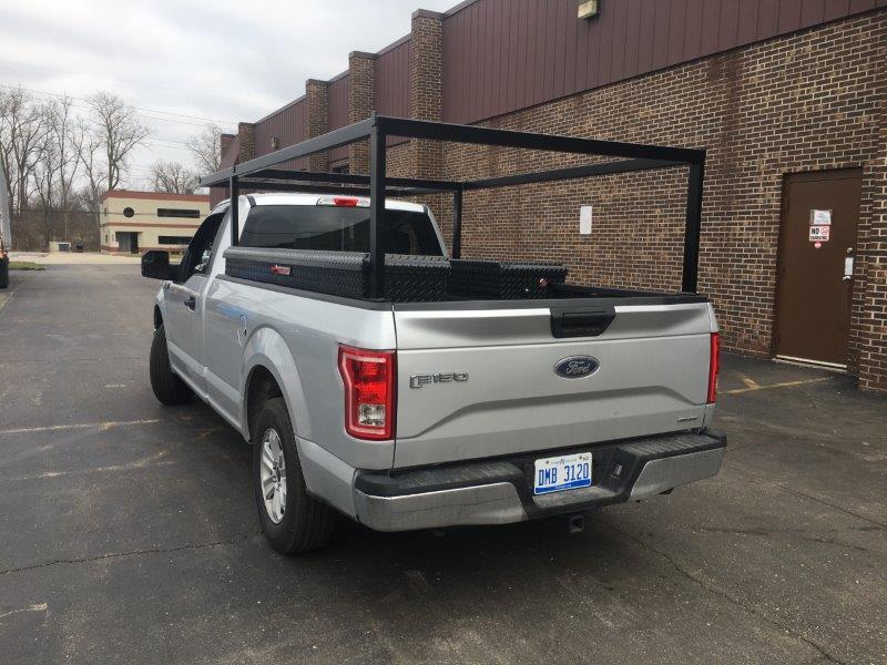 custom metal truck rack custom pick up truck toolboxes metal fabrication steel rack