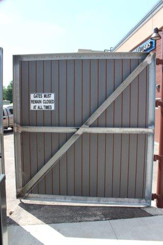 livonia custom steel dumpster gates trash enclosure gate wood metal dumpster gate commercial gate double driveway gate